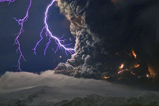 Eyjafjallajökull: lightning