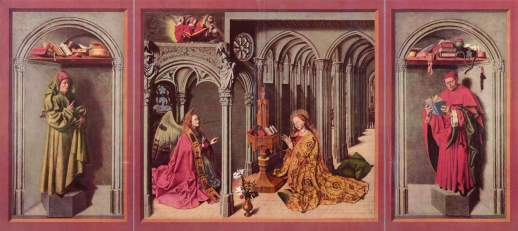 Barthélemy d'Eyck, Annunciation triptych