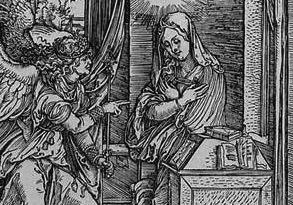 Durer, Annunciation detail